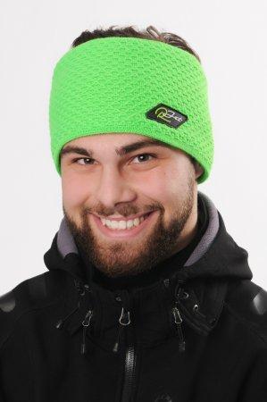 Pánská zimní pletená široká zelená čelenka