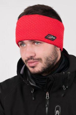Pánská zimní pletená červená čelenka