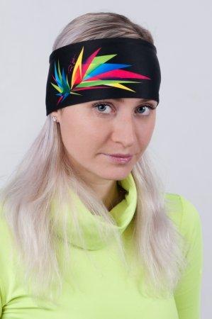Černá sportovní outdoorová čelenka ORIGAMI