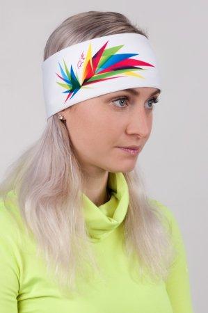 Bílá sportovní outdoorová čelenka ORIGAMI