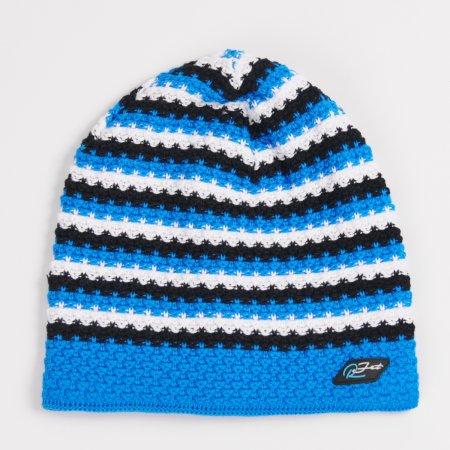 Dětská modro-černá zimní prodloužená čepička pro kluky